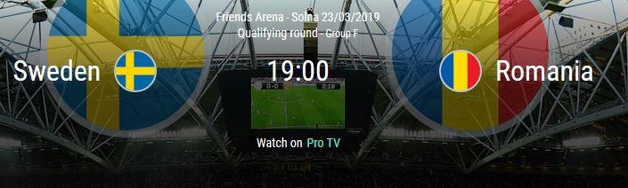100 ron Fullbet pentru meciul Suedia vs Romania