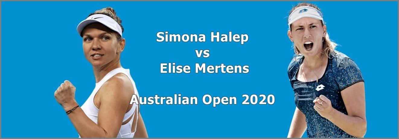 Halep vs Mertens la Australian Open 2020