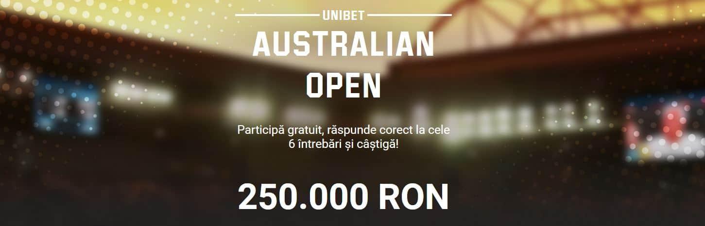 Promotii pariuri Australian Open 2020