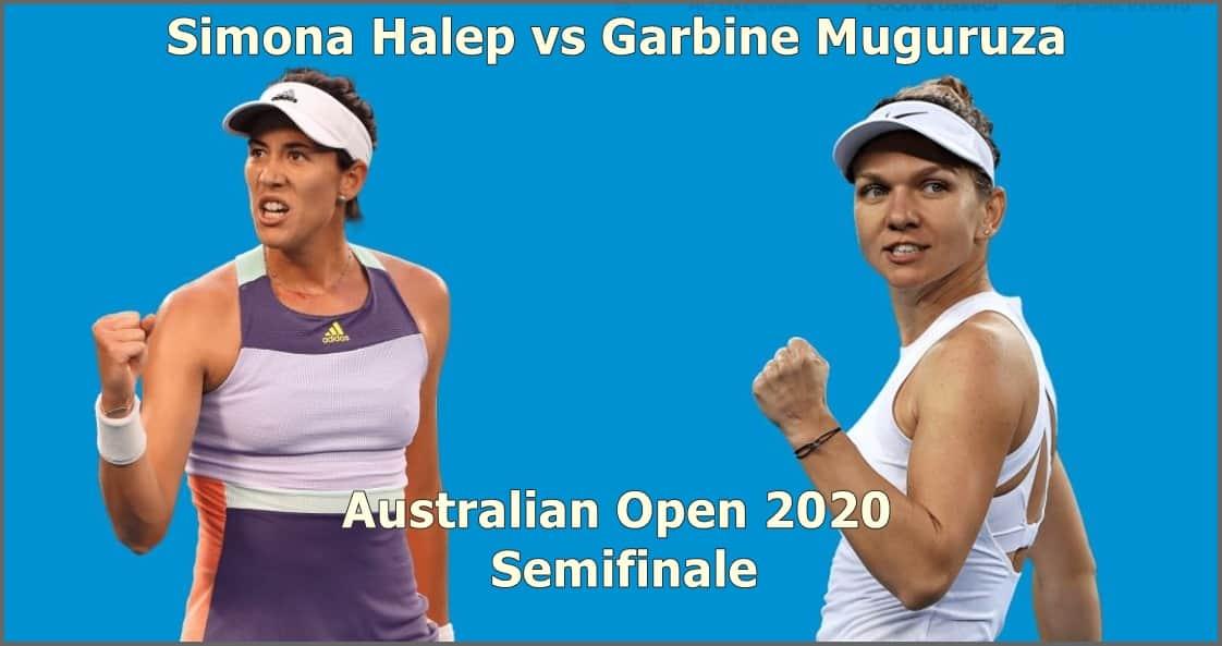 Halep vs Muguruza in Semifinalele Australian Open 2020