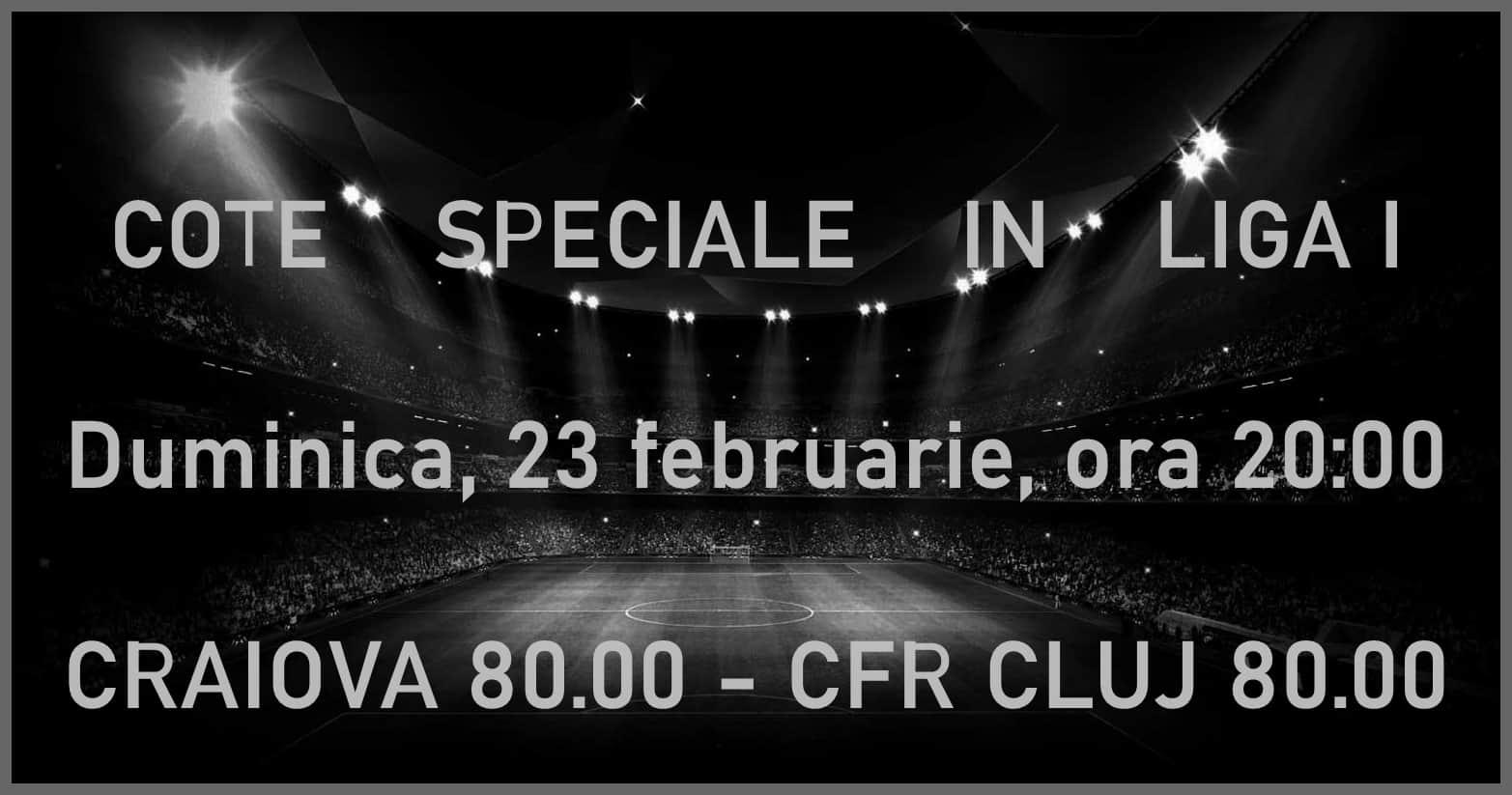 Promotii pariuri Craiova - CFR Cluj