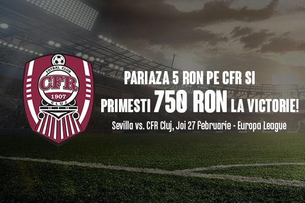 Promotii pariuri Sevilla - CFR Cluj