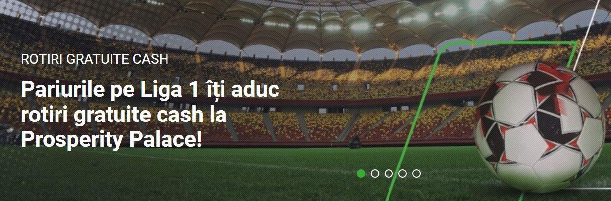 Golurile din Liga 1 22-24 februarie iti aduc Rotiri Gratuite