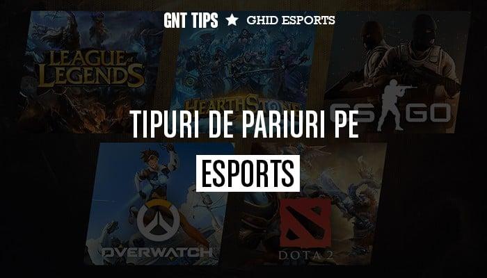 Tipuri de pariuri pe eSports