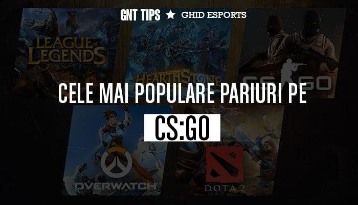 cele mai populare pariuri pe CS:GO