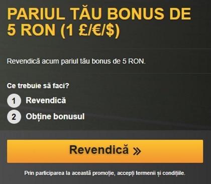 Bonus 5 lei betfair 2