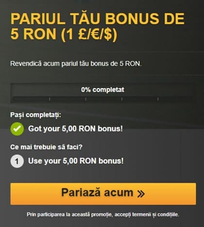 Bonus 5 lei betfair