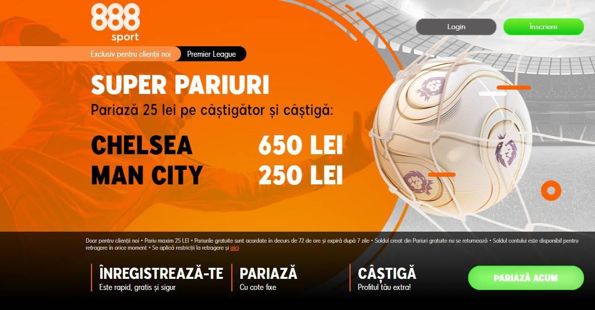 Cote speciale 888 la Chelsea - Manchester City