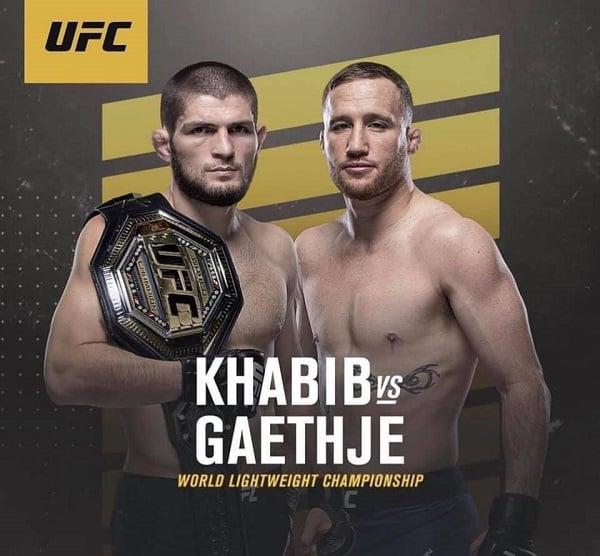 Khabib Nurmagomedov vs Justin Gaethje - sursă facebook.com