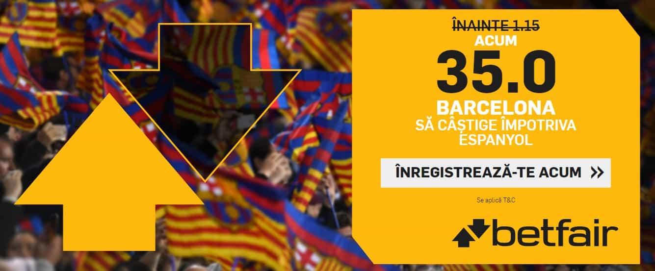 Cota 35.00 pentru Barcelona