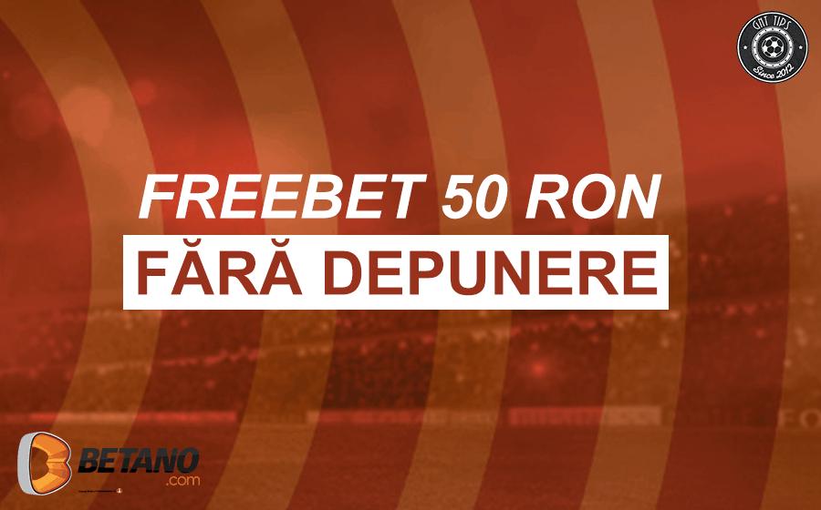 FreeBet de 50 RON fara depunere