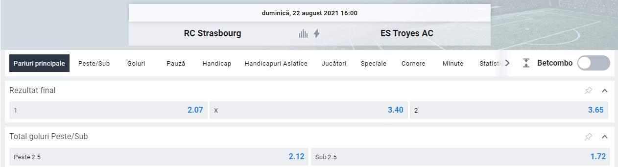 Ponturi pariuri Strasbourg vs Troyes