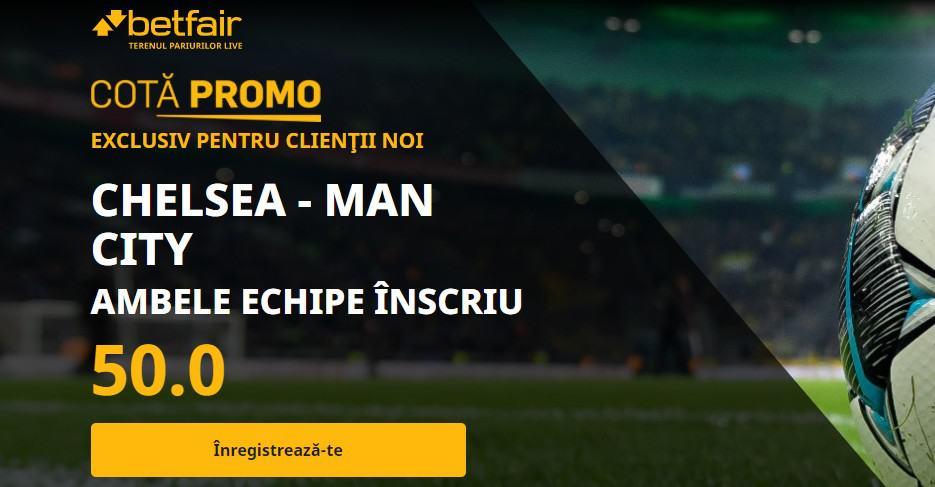 Promotie Chelsea vs Manchester City
